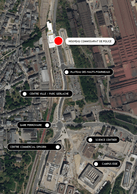 Localisation du futur commissariat de Differdange. ((Illustration: Ville de Differdange))