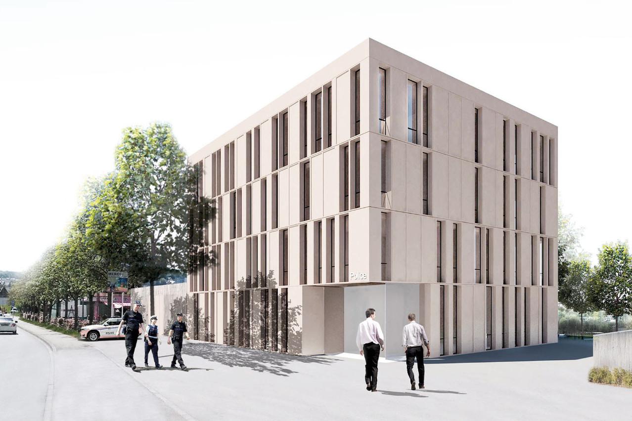Differdange disposera d'un nouveau commissariat au printemps 2023. (Illustration: Dewey Muller)