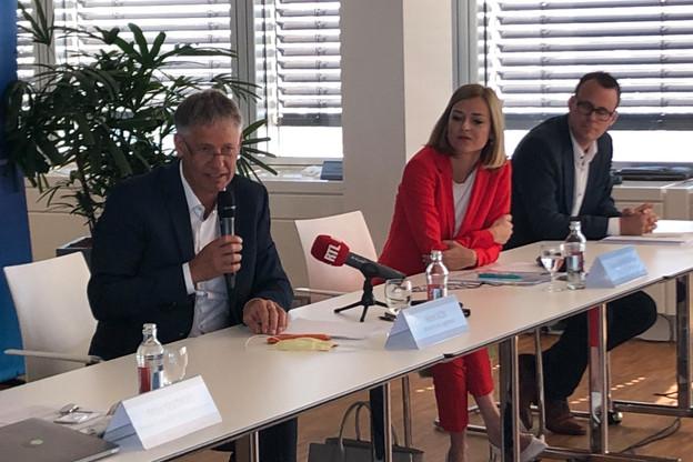 Henri Kox et Taina Bofferding sont convaincus que le Pacte 2.0 stimulera la construction de logements abordables. (Photo: Paperjam)
