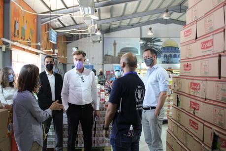 FranzFayot a notamment visitéun supermarché opéré par le Programme alimentaire mondial. (Photo: MAEE)