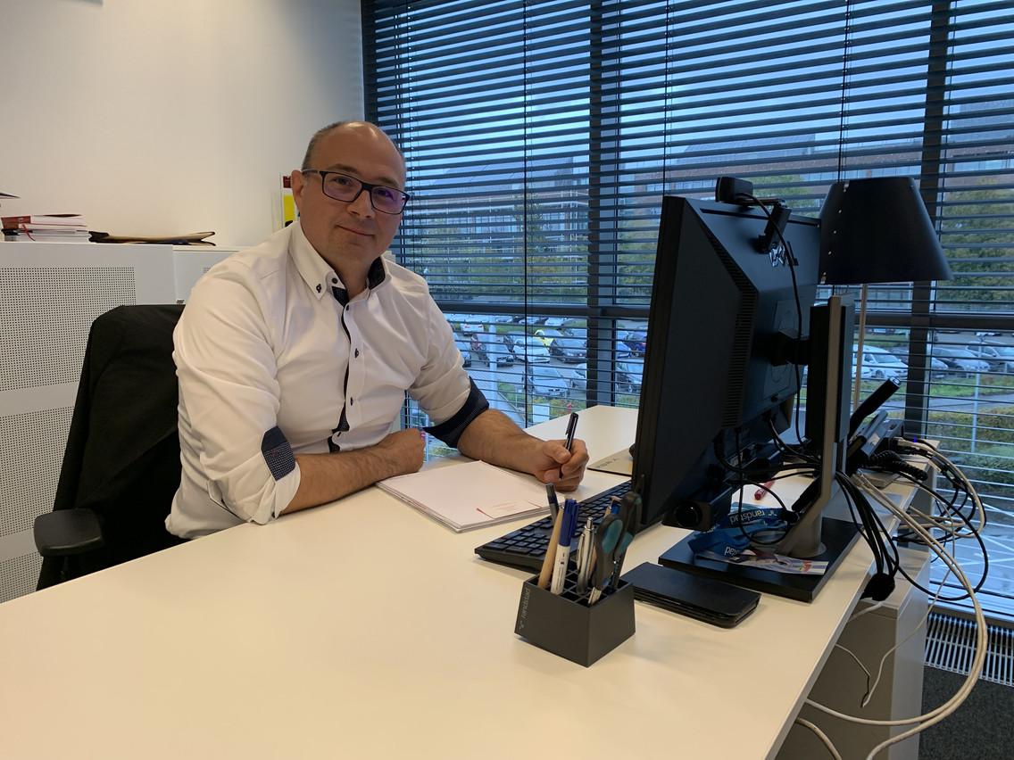 Marc Lebrun est fier de travailler avec Youplan, un outil développé en interne qui permet un gain de temps considérable. (Photo: Paperjam)