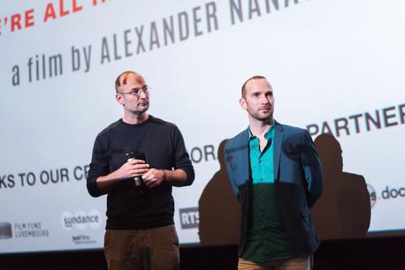 AlexanderNanau, le réalisateur, et son producteur luxembourgeois, BernardMichaux. (Photo: Samsa Film)