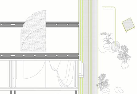 Le pavillon luxembourgeois à la 17eBiennale de Venise est conçu par le studio SNCDA. (Illustration: Studio SNCDA)