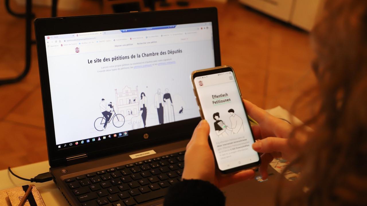 Le site petitiounen.lu se veut «mobile friendly»: la navigation a été conçue pour que le site soit accessible sur les petits supports tels que les smartphones ou les tablettes. (Photo: Chambre des députés / Flickr)
