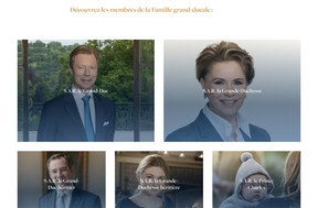 Le nouveau site propose notamment une galerie de portraits des membres de la famille grand-ducale. ((Capture d'écran: monarchie.lu))