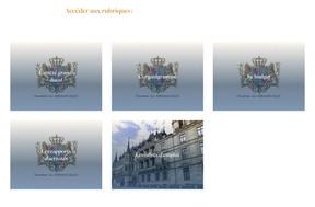 Le site dispose également d'un espace qui présente notamment la Maison du Grand-Duc, rénovée à travers ses rapports d'activités, son budget ainsi que l'organigramme. ((Capture d'écran: monarchie.lu))