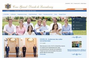 L'ancien site de la Cour grand-ducale était en ligne depuis 2011. ((Capture d'écran: monarchie.lu))