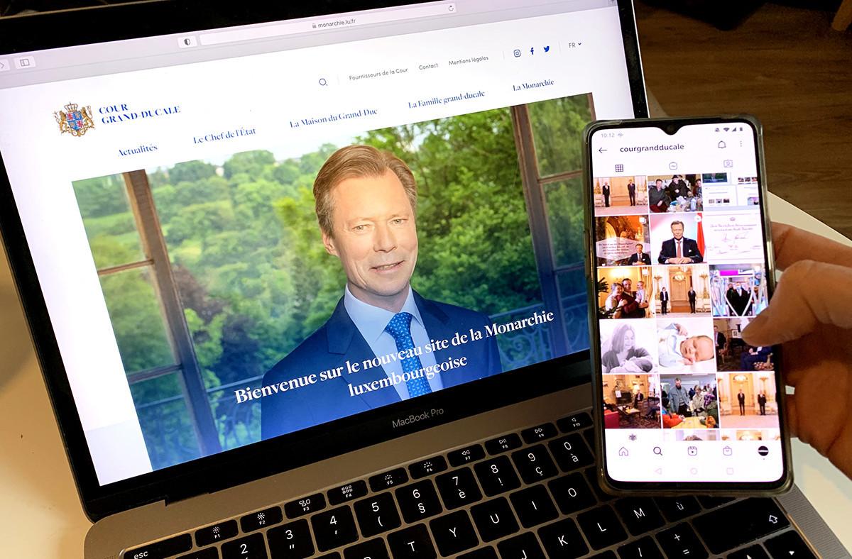 En plus de son nouveau site internet, la Cour est active sur trois réseaux sociaux: Twitter, Facebook et Instagram. (Photo: Paperjam)