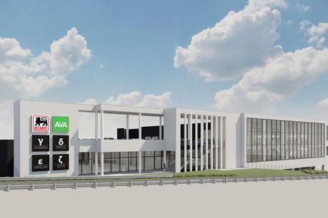 Delhaize et Ava sont les premiers occupants confirmés: l'ouverture du complexe est prévue au deuxième semestre2021. (Photo: MG Real Estate)