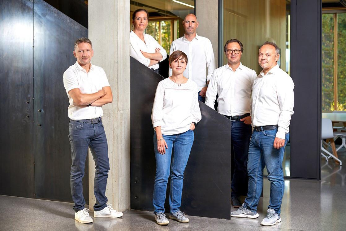 De gauche à droite: TomBeiler,FrançoiseKuth,YvonneKunath, MathiasFritsch,AlexandreUrosevic et StéphaneFrançois. (Photo: Andrés Lejona)