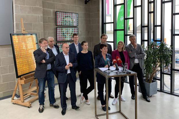 Les députés Déi Gréng lors de la présentation du bilan parlementaire. (Photo: Maison Moderne)