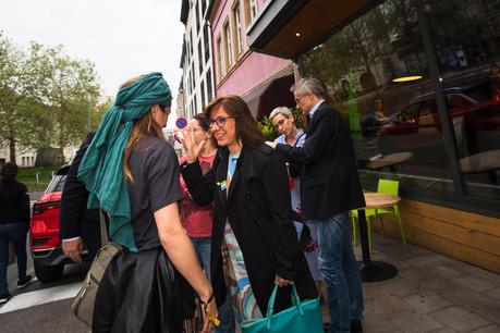 Tilly Metz (Déi Gréng) savoure le beau résultat de son parti et des Verts en Europe. (Photo: Nader Ghavami)