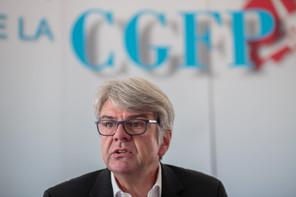 RomainWolff, président national de la CGFP, a signé l'accord avec le ministre de la Fonction publique, MarcHansen. (Photo: Matic Zorman/Archives Maison Moderne)