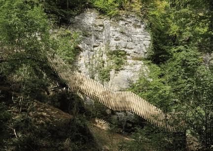 Le nouvel escalier se trouve à proximité immédiate duSchießentümpel. (Photo : Witry & Witry)