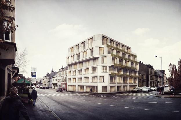La route d'Esch va prochainement accueillir ce nouvel immeuble conçu par Dagli+ atelier d'architecture. (Illustration: Dagli+)