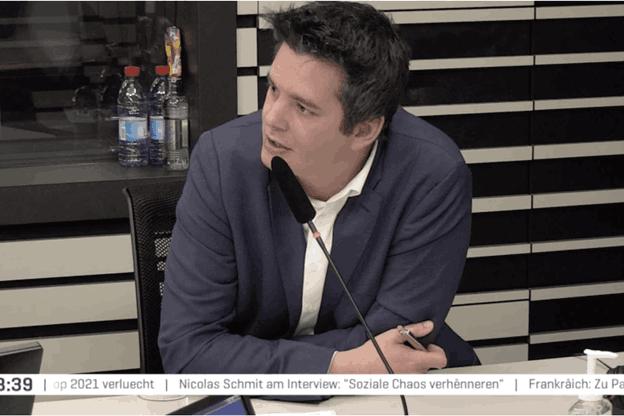 Le gouvernement recherche la bonne mesure entre les impératifs sanitaires et les enjeux économiques, a déclaré le ministre des Classes moyennes, Lex Delles. (Photo: Capture d'écran/RTL)