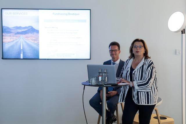 Le directeur de la Chambre de commerce, Carlo Thelen, et la CEO de la Host, Karin Schintgen, ont retracé une première année riche en développements et une nouvelle ambition. (Photo: Matic Zorman)
