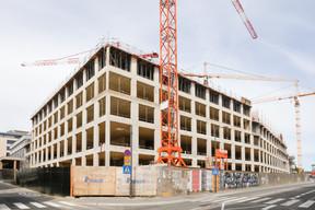 L'immeuble administratif se caractérise par une structure en blocs. ((Photo: Romain Gamba / Maison Moderne))