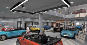 Les aménagements intérieurs de Mini répondent à un esprit de loft, plus industriel. ((Illustration: Archipel 41))