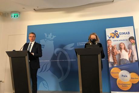 ClaudeMeisch etJulie-SuzanneBausch ont présenté à la presse la nouvelle école européenne qui ouvrira à Mersch en septembre2021. (Photo: Paperjam)