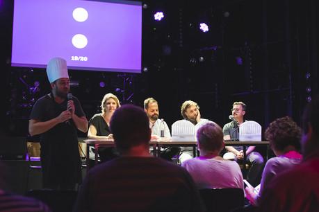 L'équipe des Rotondes, lors de la présentation presse. (Photo: Mariana Dos Santos)