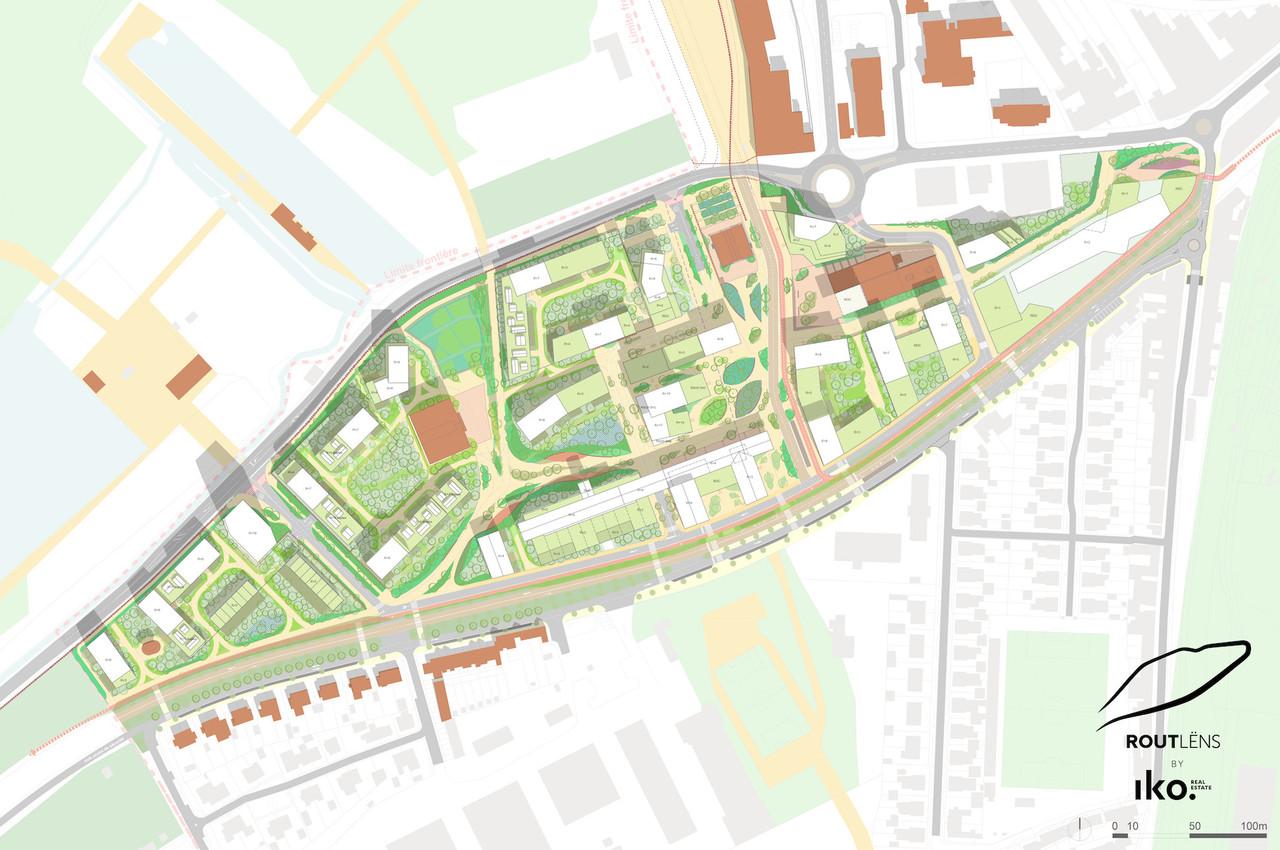 Le master plan de la Rout Lëns a été dessiné par Reichen et Robert & Associés. (Illustration: IKO)