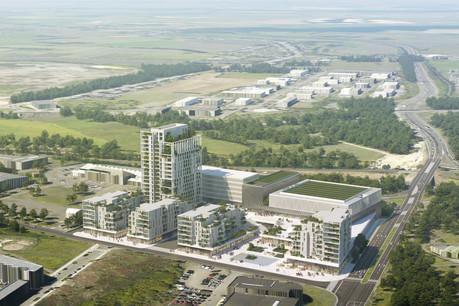C'est sur le site dit Lankelz, à Esch-sur-Alzette, que le projet Perspectiv' va voir le jour. (Illustration:Wilmotte & Associés - WW+)