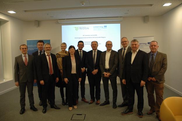 Les ministres et responsables politiques de l'aménagement du territoire de la Grande Région se sont rassemblés jeudi 16 janvier à Luxembourg. (Photo: MEA, DATer)