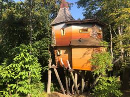 Les Escher Bamhaiser sont perchées sur des pilotis en bois. ((Photo: Paperjam.lu))