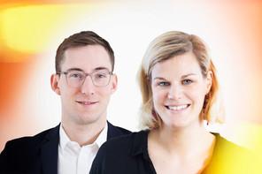 Max Gindt, AI Lead au Service des médias, des communications et du numérique du gouvernement luxembourgeois, etNoemi Bausch, Coordinatrice de Digital Luxembourg. (Photo: Maison Moderne)