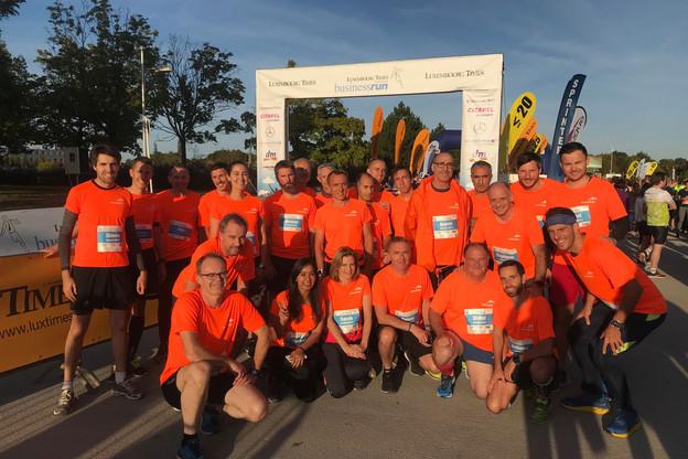 Une trentaine de coureurs d'ArcelorMittal Luxembourg se rejoignent désormais pour la BusinessRun. (Photo: ArcelorMittal)