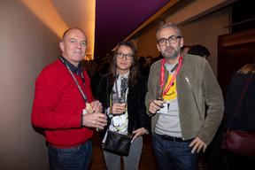 Camille Groff (Mikado Publicis), Isabelle Faber (Leitmotif) et Mike Koedinger (Maison Moderne) ((Photo: Jan Hanrion))
