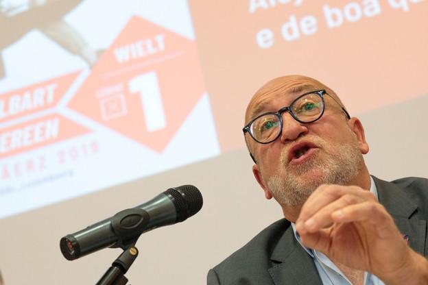 Le président de l'OGBL ne lâchera pas le gouvernement: il veut interdire la spéculation. (Photo: Matic Zorman / Archives)