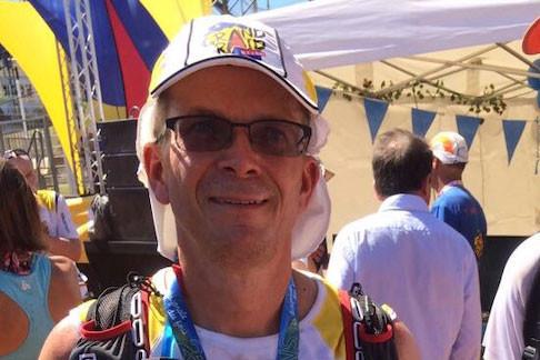 Olivier Blanc, COO de Société Générale Luxembourg, après le passage de la ligne d'arrivée du Grand Raid de La Réunion, en 2017. (Photo: DR)