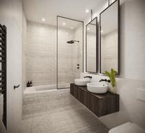 Vue d'une salle de bains (Illustration: Moreno Architecture & Associés)