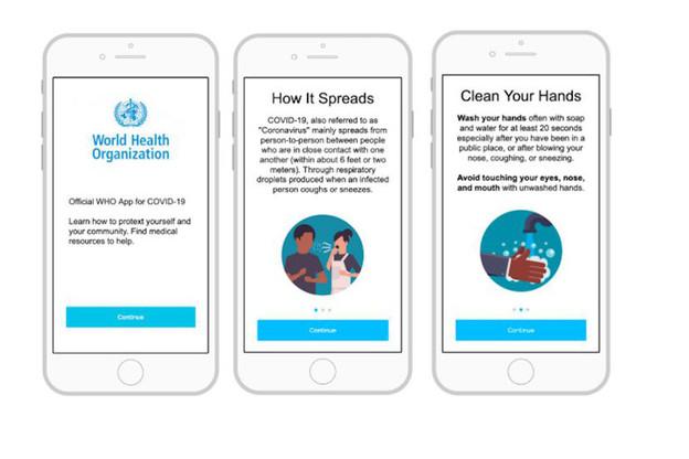 Pour aider les pays ne disposant pas des ressources nécessaires, l'OMS a créé une application de tracing. (Photo: OMS)