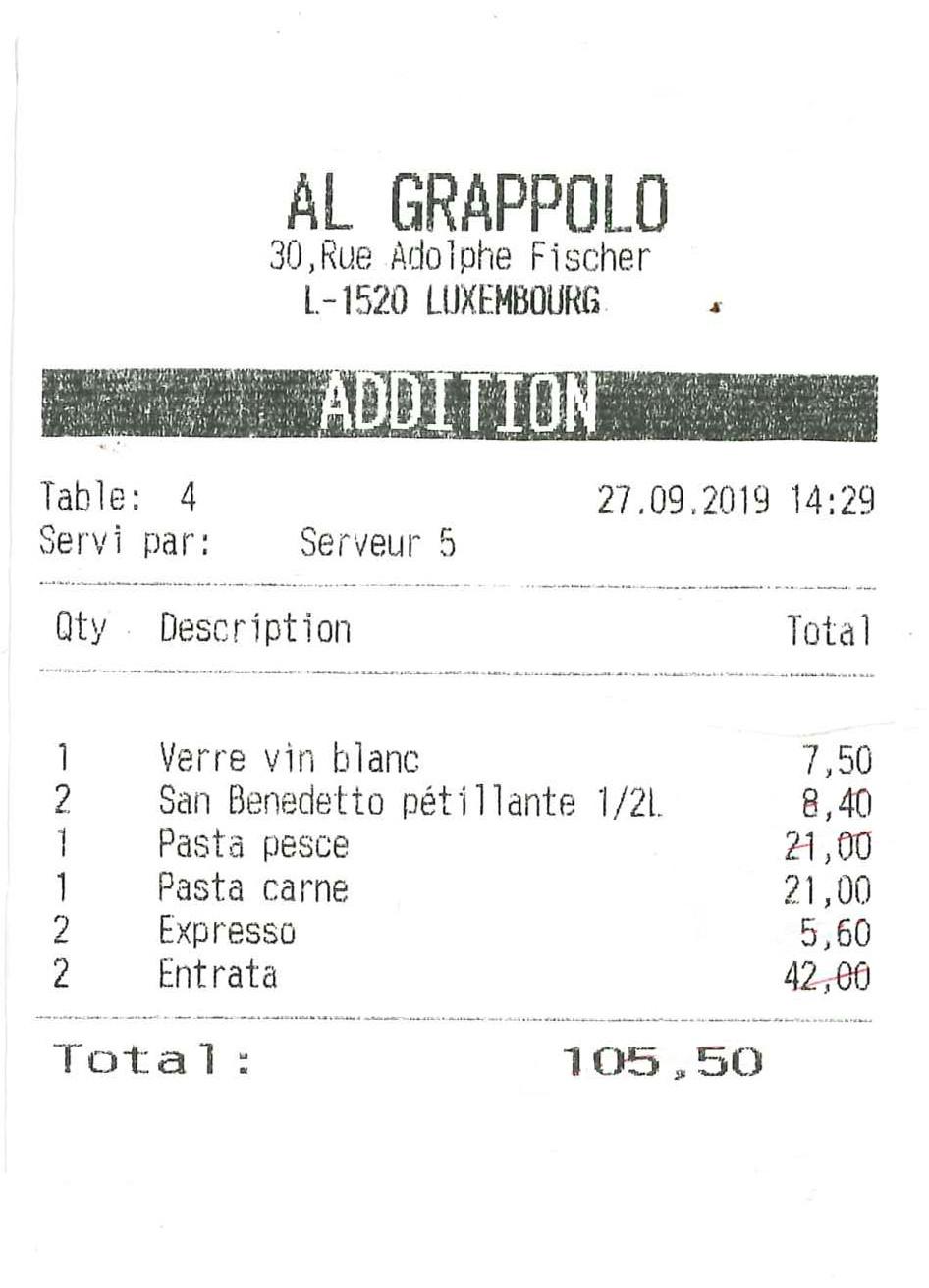 Chez Al Grappolo, l'addition varie mais le goût reste fixe! Maison Moderne
