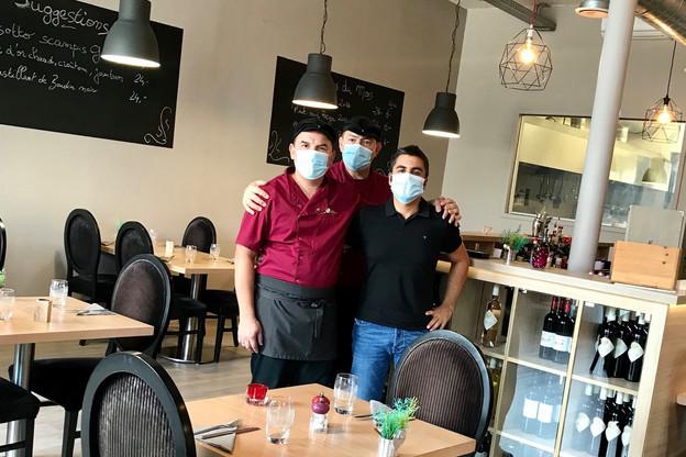 Thierry Finet, Stéphane Niclot et Pascal Audia (de gauche à droite) sont les trois associés d'Espace Gourmand'iz, le restaurant qui fait du bien à la zone commerciale de Foetz. (Photo: Espace Gourmand'iz)