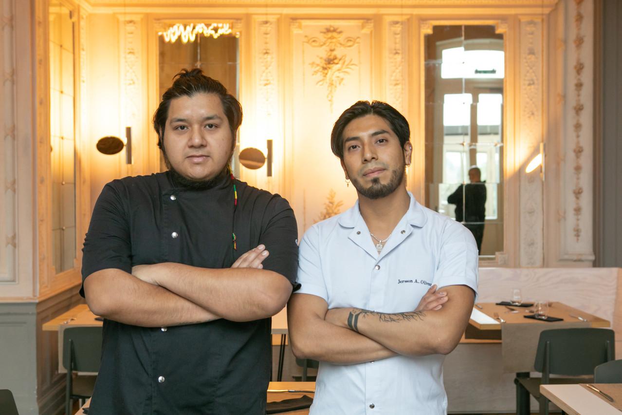 Gerson Atalaya et Jersson Olivares, les deux jeunes chefs du Kay au Casino Luxembourg. (Photo: Matic Zorman/Maison Moderne)