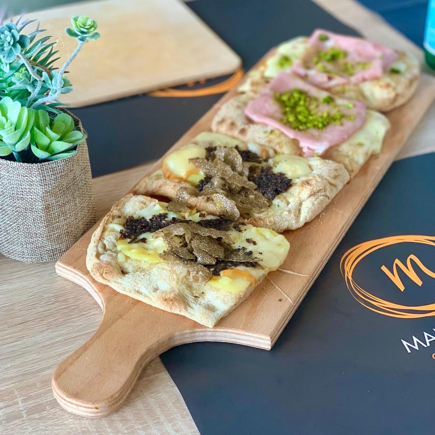 Les pizzas blanches sont une des spécialités du nouveau restaurant Mani d'Oro à Gasperich. (Photo: Maison Moderne)