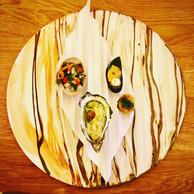 Hommage aux coquillages dans le volet amuse-bouches du menu Roland, à La Paix de Bruxelles. (Maison Moderne)