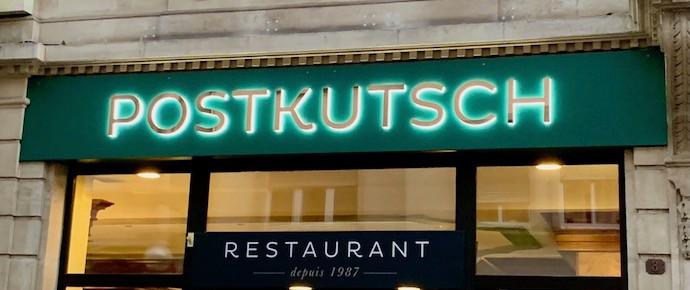 Le restaurant Postkutsch est une référence à Esch depuis 1987. C'est écrit dessus! (Photo: Maison Moderne)