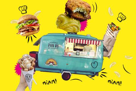 Burgers, wraps, panzerotti, muffles… Toutes les saveurs de la street food aux Rotondes ce week-end! (Design: Maison Moderne)
