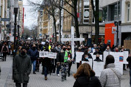 Le 23 janvier dernier, les professionnels du secteur horeca avaient déjà donné de la voix lors d'une manifestation en ville. (Photo: Matic Zorman/archives Maison Moderne)
