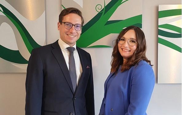 Ryan Davis, Associate Partner, and Oksana Sisterhenn, Manager at Avantage Reply Luxembourg. (Photo: Avantage Reply Luxembourg)