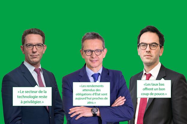 Trois experts de la banque privée livrent leurs conseils pour investir intelligemment en 2021. (Montage: Maison Moderne)