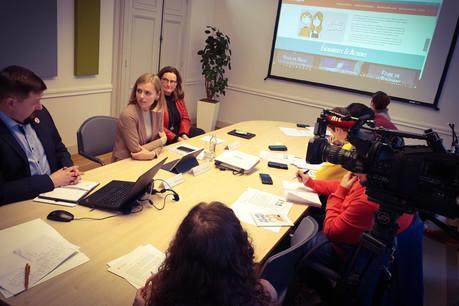 Différents outils de sensibilisation pour lutter contre les stéréotypes sexués étaient présentés lundi 2 mars lors d'une conférence de presse par laministre de l'Égalité entre les femmes et les hommes, Taina Bofferding. (Photo: MEGA)