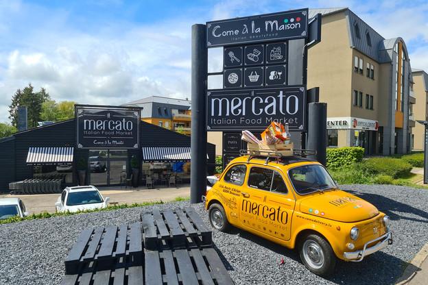 La devanture du nouveau Mercato, à Strassen, risque d'attirer l'œil des gourmand(e)s qui passent le long de la route d'Arlon! (Photo: Vincent Pattyn)