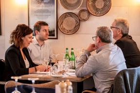 Sophie Pierini (Sophie Pierini), Matthieu Hodas (Hays), Didier T'Kint (BFED) et Régis Auburtin (Arthemis Formalux) ((Photo: Julian Pierrot / Maison Moderne))