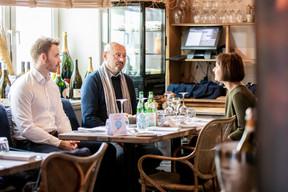 Tom Reinhard (Op der Gänn), Thierry Manconi (Thierry Manconi) et Geneviève Chabot (Pami Lux) ((Photo: Julian Pierrot / Maison Moderne))